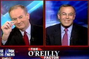 Bill O'Reilly kids David Brooks about the size of his role at the Times.